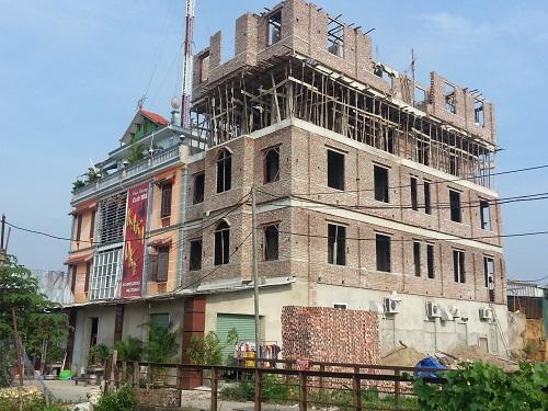 Một công trình ngang nhiên vi phạm của Cty Thành Phát đang hoàn thiện phần thô