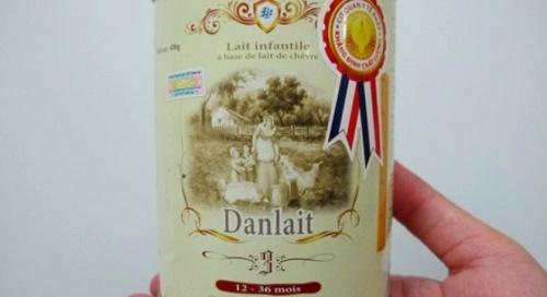 Mặt hàng sữa Danlait của Công ty Mạnh Cầm