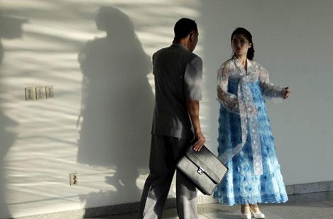 Quần áo bình thường cho đàn ông ở Triều Tiên.