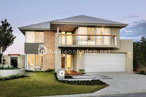 Kiến trúc biệt thự mini phong cách hiện đại