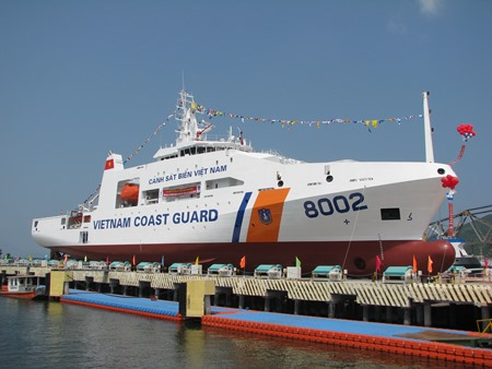 Đây là một trong những con tàu hiện đại nhất của Cảnh sát biển Việt Nam.