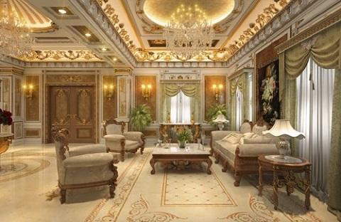 Nội thất được bày trí y như trong các lâu đài Châu Âu cổ xưa.