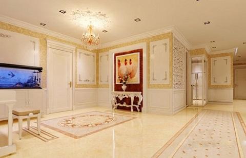 Khu phòng bếp được thiết kế sang trọng.