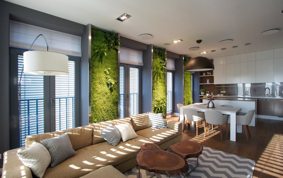 Thiết kế nội thất chung cư Hapulico không gian xanh