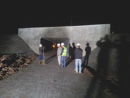 Những công việc cuối cùng của công trình hầm đường dân sinh hoàn thành lúc 5h30 sáng nay (12/11)