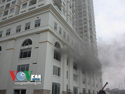 Cháy tòa nhà Hòa Bình ở Hà Nội