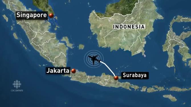 Chuyến bay QZ8501 đã mất tích sau khi cất cánh từ Surabaya để tới Singapore.
