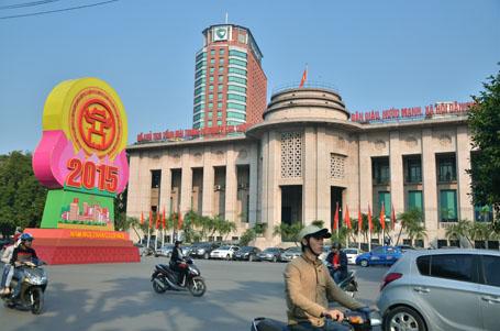 Khu vực phía trước Ngân hàng Nhà nước Việt Nam