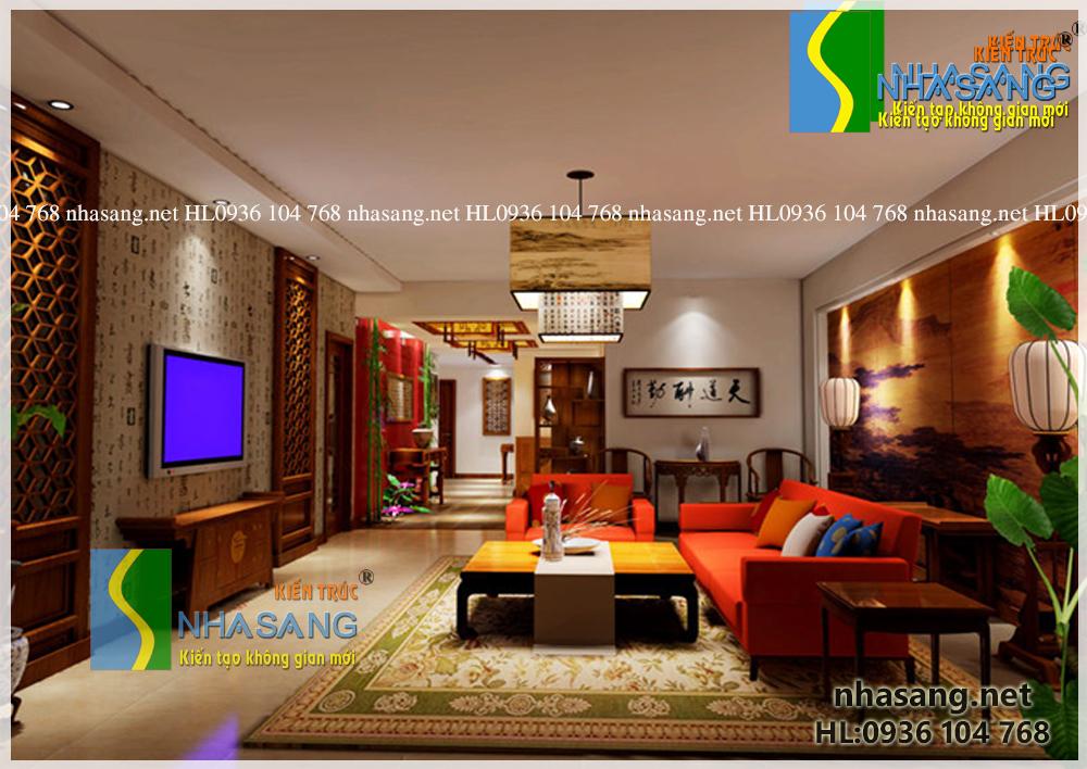 Mẫu thiết kế nội thất theo phong cách Á Đông