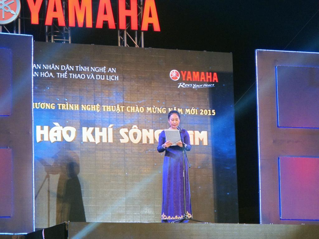 Bà Đinh Thị Lệ Thanh - Phó Chủ tịch UBND tỉnh Nghệ An phát biểu khai mạc buổi lễ.