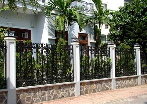 Xây tường rào nhà ở hợp phong thủy