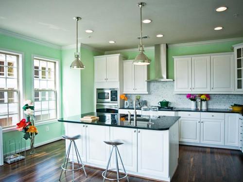 nên chọn một số chậu cây có màu sắc tươi vui để bài trí cây xanh theo phong thủy trong gian bếp