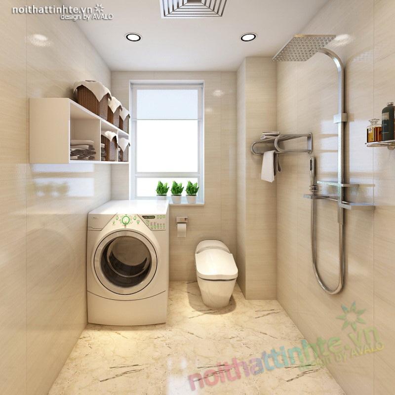 Phòng tắm hiện đại cho nhà lô phố