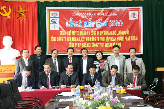 Xi măng Đô Lương về tay The Vissai Ninh Bình
