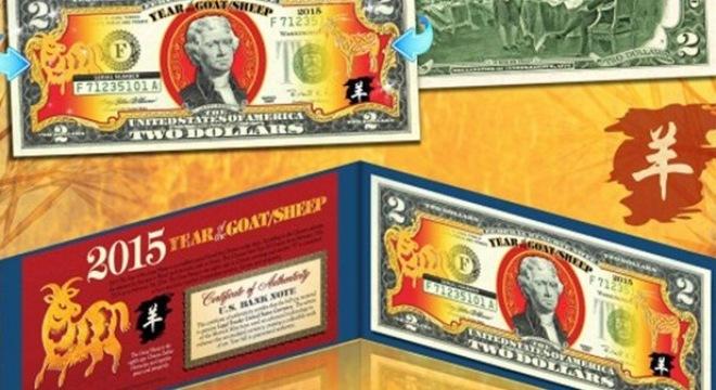 Bộ Tài chính Mỹ đã phát hành bộ sưu tập 'Tiền May mắn' của 'Năm con Dê
