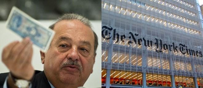 New York Times bán rẻ cổ phần cho Carlos Slim