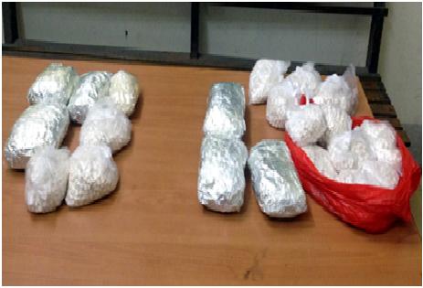 Bắt giữ 2 đối tượng vận chuyển 8kg nghi ma túy