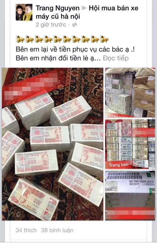 Rao đổi tiền lẻ ăn chênh trên mạng xã hội