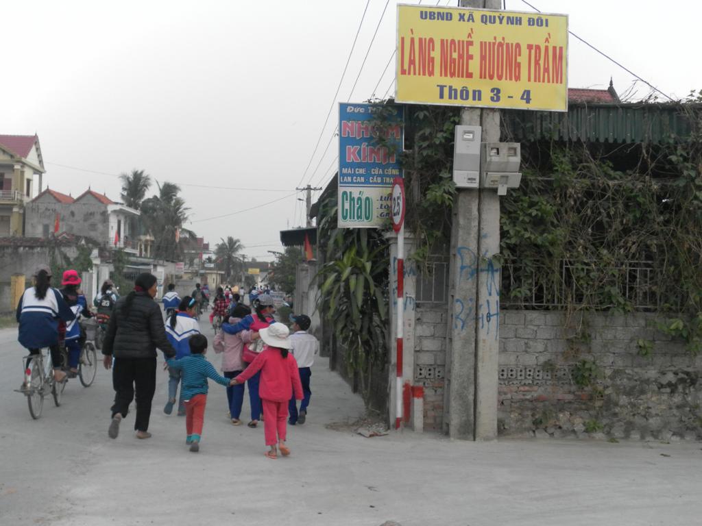 Làng nghề hương trầm Quỳnh Đôi.