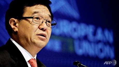 Bộ trưởng tài chính Trung Quốc Cao Hổ Thành trong một hội nghị. (Ảnh: