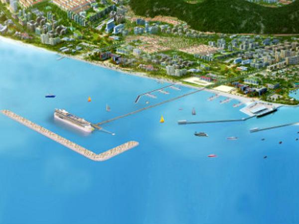 Mô hình cảng hành khách quốc tế Phú Quốc.
