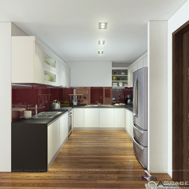 Thiết kế phòng bếp trong căn hộ chung cư