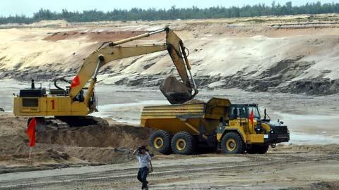Một góc dự án mỏ sắt Thạch Khê.