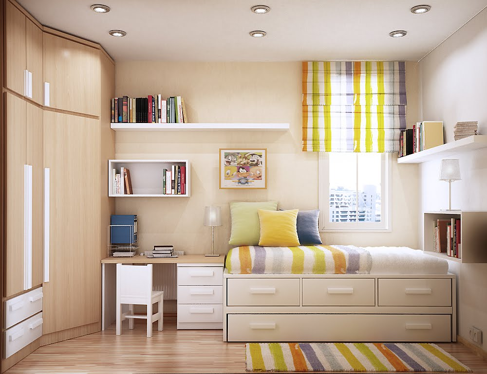 Sự kết hợp màu sắc tường nhà và trần nhà sẽ giúp nới rộng không gian phòng khách