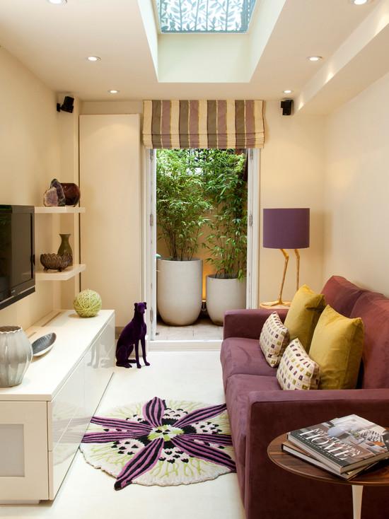 Nới rộng không gian phòng khách bằng cách phối hợp màu sắc tường nhà và nội thất