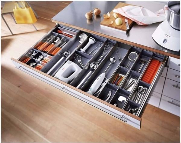 Bí quyết lưu trữ cho không gian bếp gọn gàng