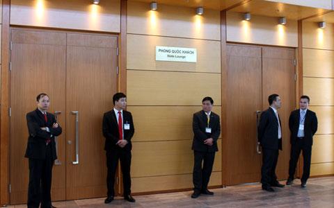 Hệ thống an ninh tại khu VIP A được thiết lập chặt chẽ, an toàn.