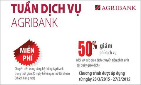 Nhiều dịch vụ hấp dẫn nhân dịp kỷ niệm thành lập Agribank