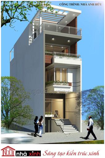 Nét kiến trúc tự do phong khoáng của nhà phố hiện đại.