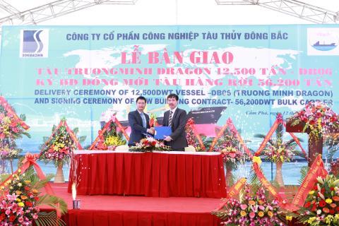 Ký hợp đồng tàu chở hàng rời 56.200T với Công ty Cổ phần quốc tế Trường Minh
