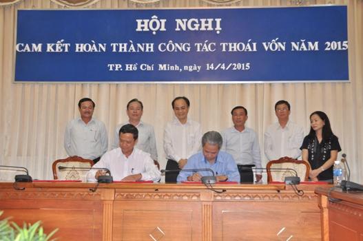 TPHCM: 14 doanh nghiệp Nhà nước ký cam kết thoái vốn đúng hạn