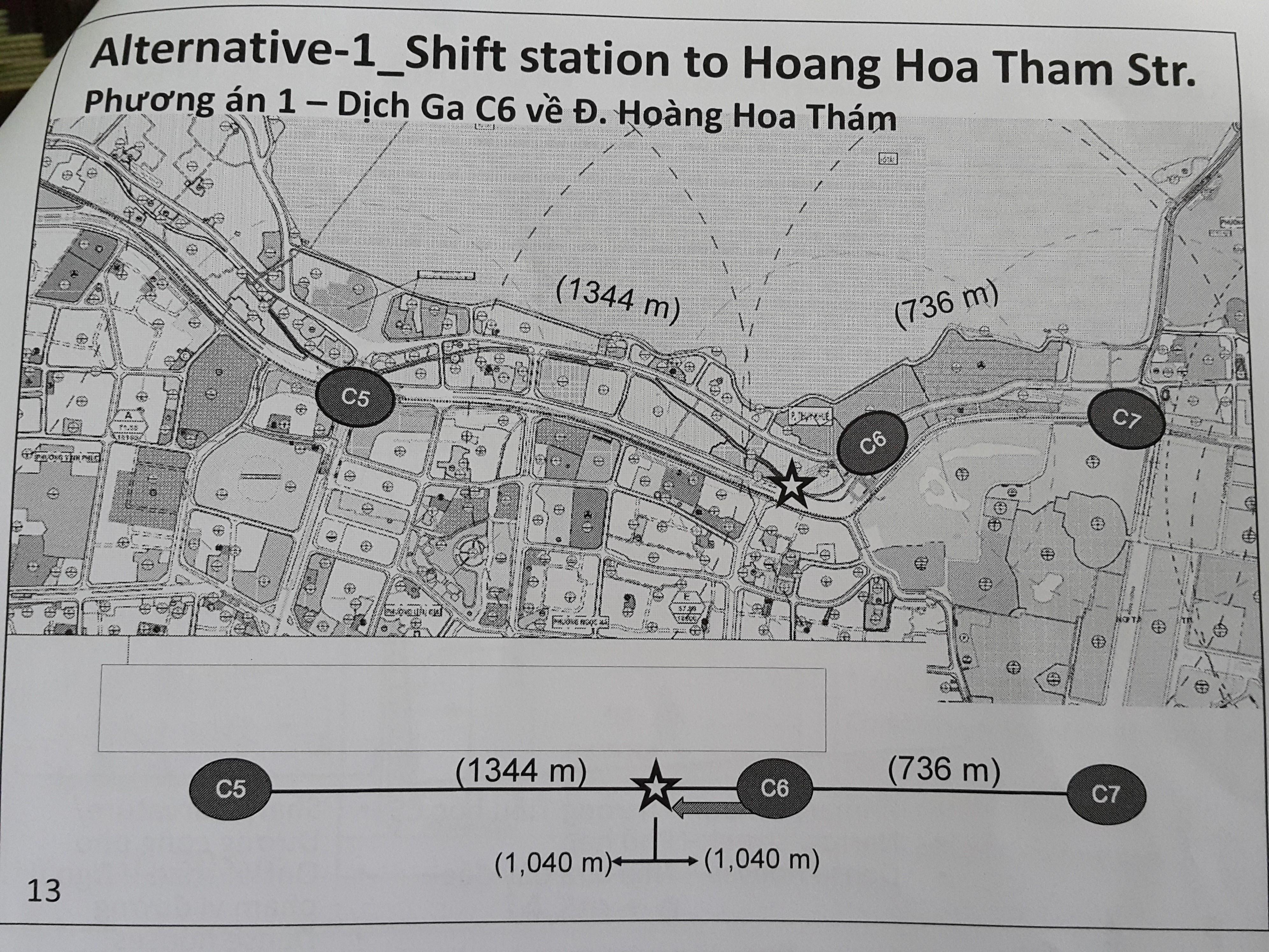 Vị trí trên đường Thụy Khuê dự kiến sẽ xây dựng ga ngầm C6.