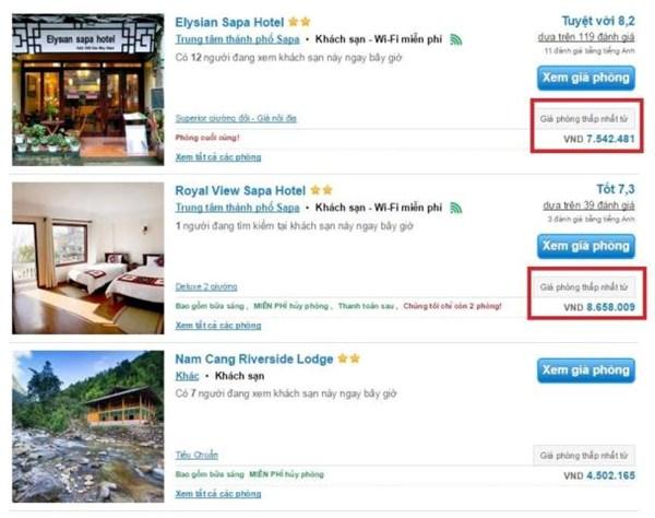 Khách sạn 3 sao tại Sapa trong dịp lễ 30.4 - 1.5 lên đến hơn 46 triệu đồng/đêm