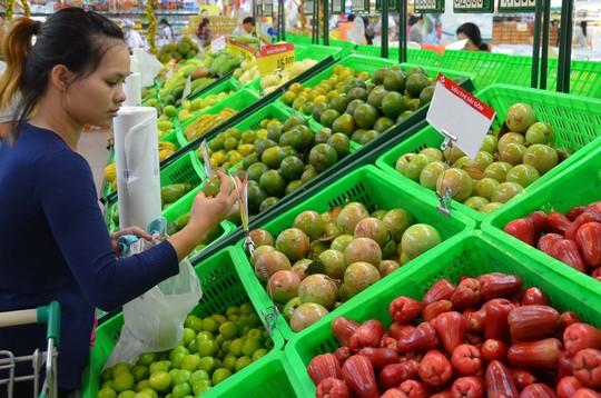 Để có mặt trong siêu thị, trái cây phải đạt chuẩn VietGAP, GlobalGAP và được lựa chọn khá đồng đều về mẫu mã, trọng lượng Ảnh: TẤN THẠNH