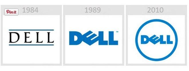 Logo của hãng Dell không thay đổi nhiều, ngoại trừ về màu sắc.