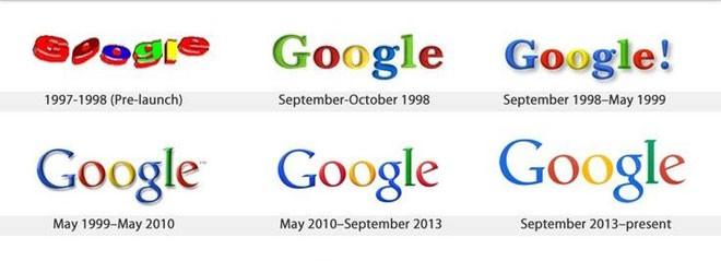 """Google cũng đã điều chỉnh logo trông """"trẻ con"""" ngày nào để có được một logo hiện đại."""