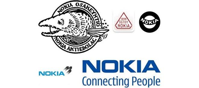 Logo đầu tiên của Nokia có hình một con cá được cho là đại diện cho dòng sông ở phía trước văn phòng đầu tiên của hãng.