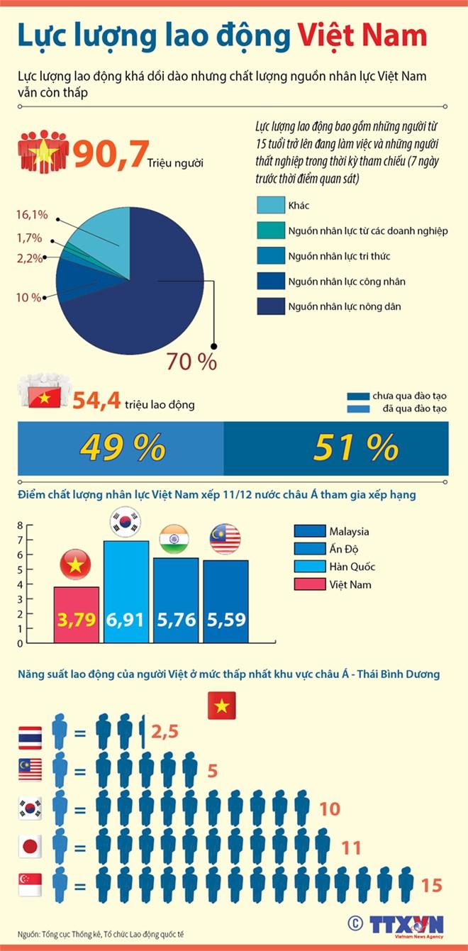 [Infographics] Tổng quan chất lượng nguồn nhân lực tại Việt Nam