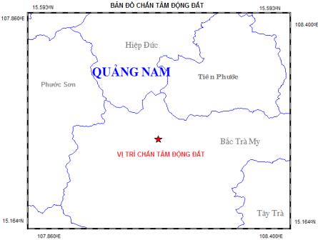 Quảng Nam liên tiếp xảy ra động đất