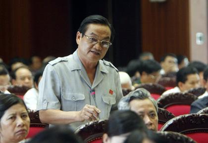 Đại biểu Trần Du Lịch, Phó trưởng Đoàn đại biểu TPHCM.