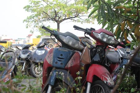 Xe đạp cũng chất đống tại đây