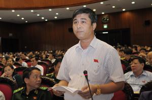 Đại biểu Nguyễn Cao Sơn (đoàn Hòa Bình).