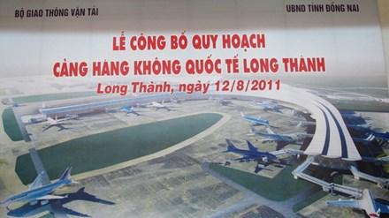 Lễ công bố quy hoạch Cảng Hàng không quốc tế Long Thành (Đồng Nai). Ảnh: TTXVN.