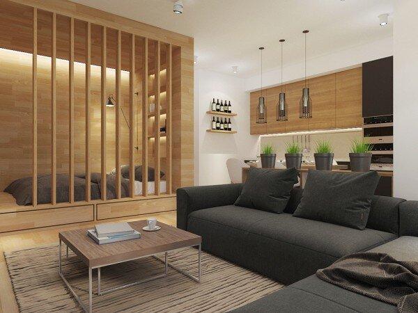 Những thiết kế căn hộ studio đơn giản và thông minh