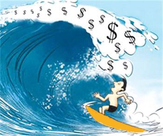 Dòng tiền đổ vào chứng khoán lên cao kỷ lục