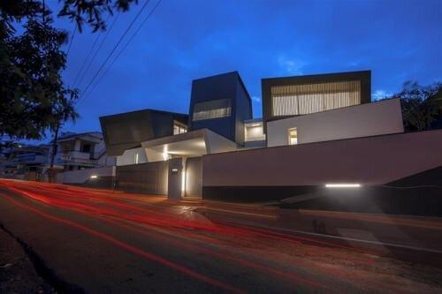 Thiết kế nhà với ngoại thất hiện đại